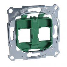 Schneider Merten MTN4566-0004 zöld rögzítőkeret, 2xRJ45 moduláris aljzatokhoz