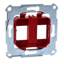 Schneider Merten MTN4566-0006 piros rögzítőkeret, 2xRJ45 moduláris aljzatokhoz