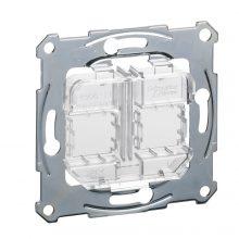 Schneider Merten MTN4566-0080 atlátszó rögzítőkeret, 2xRJ45 moduláris aljzatokhoz