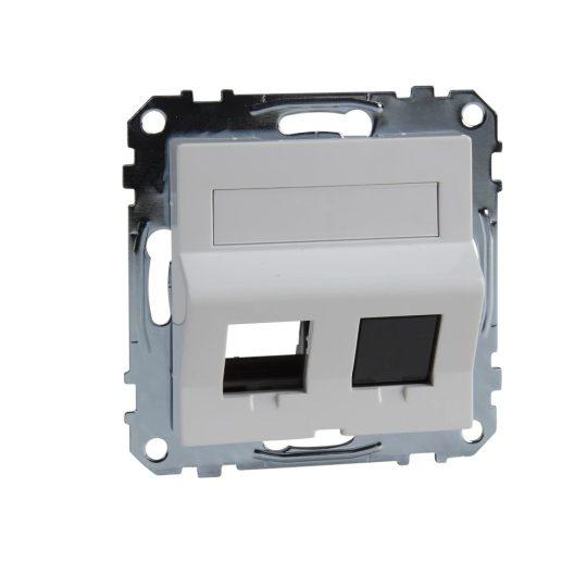 Schneider Merten MTN4568-0325 RJ45 adatpter, Keystone betétekhez, feliratozható aktív fehér (antibakteriális) burkolattal kerét nélkül (Merten M-Smart, M-Plan, M-Elegance)