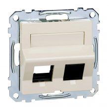 Schneider Merten MTN4568-0344 RJ45 adatpter, Keystone betétekhez, feliratozható krém burkolattal kerét nélkül (Merten M-Smart, M-Plan, M-Elegance)