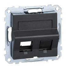 Schneider Merten MTN4568-0414 RJ45 adatpter, Keystone betétekhez, feliratozható antracit burkolattal kerét nélkül (Merten M-Smart, M-Plan, M-Elegance)