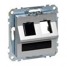 Schneider Merten MTN4568-0460 RJ45 adatpter, Keystone betétekhez, feliratozható alumínium burkolattal kerét nélkül (Merten M-Smart, M-Plan, M-Elegance)
