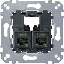 Schneider Merten MTN4575-0002 2xRJ45 Cat5e UTP aljzat burkolat és kerét nélkül