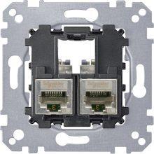 Schneider Merten MTN4575-0012 2xRJ45 Cat5e STP aljzat burkolat és kerét nélkül