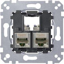 Schneider Merten MTN4576-0022 2xRJ45 Cat6 STP aljzat burkolat és kerét nélkül