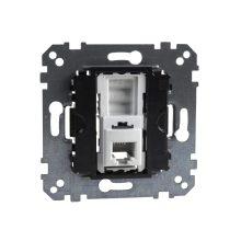 Schneider Merten MTN463501 1xRJ11 telefonaljzat, 4 érintkezővel, burkolat és kerét nélkül