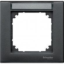 Schneider Merten MTN476114 1-es antracit feliratozható keret (Schneider M-Plan)