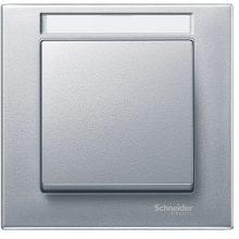 Schneider Merten MTN476160 1-es alumínium feliratozható keret (Schneider M-Plan)