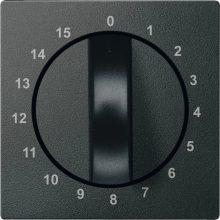 Schneider MTN539014 antracit burkolat 15 perces időkapcsoló betétekhez (Merten M-Smart, M-Plan, M-Elegance)