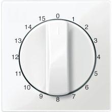 Schneider MTN567419 polárfehér burkolat 15 perces időkapcsoló betétekhez (Merten M-Smart, M-Plan, M-Elegance)