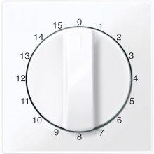 Schneider MTN567425 aktív fehér (antibakteriális) burkolat 15 perces időkapcsoló betétekhez (Merten M-Smart, M-Plan, M-Elegance)