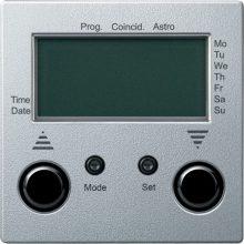 Schneider Merten MTN586760 Programozható redőnykapcsoló, külső érzékelő bemenettel alumínium burkolattal