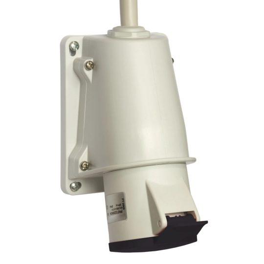 Schneider Electric, PKF16W445, ipari csatlakozó rögzíthető dugalj 5P (3P+N+F) 16A 7h, 500V 50/60 Hz, IP44, fekete, csavaros csatlakozás, PratiKa (Schneider PKF16W445)