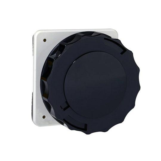 Schneider Electric, PKF32G745, ipari csatlakozó beépíthető dugalj egyenes 5P (3P+N+F) 32A 7h, 500V 50/60 Hz, IP67, fekete, csavaros csatlakozás, PratiKa (Schneider PKF32G745)