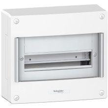 Műanyag kiselosztó, 13 modul, 1 sor, ajtó nelkül, IP30 (IP40 ajtóval, külön rendelhető), falon kívüli, Pragma (Schneider PRA20113)