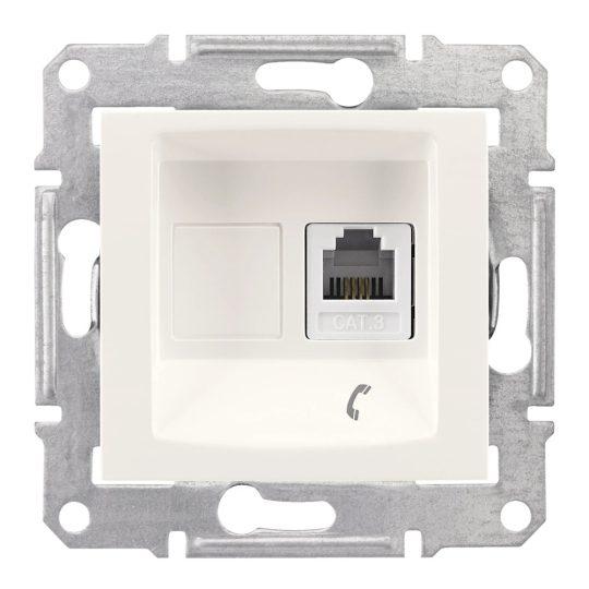 Schneider Electric Sedna SDN4101123 telefoncsatlakozó 1xRJ11, krém burkolattal, keret nélkül ( SDN4101123 ).