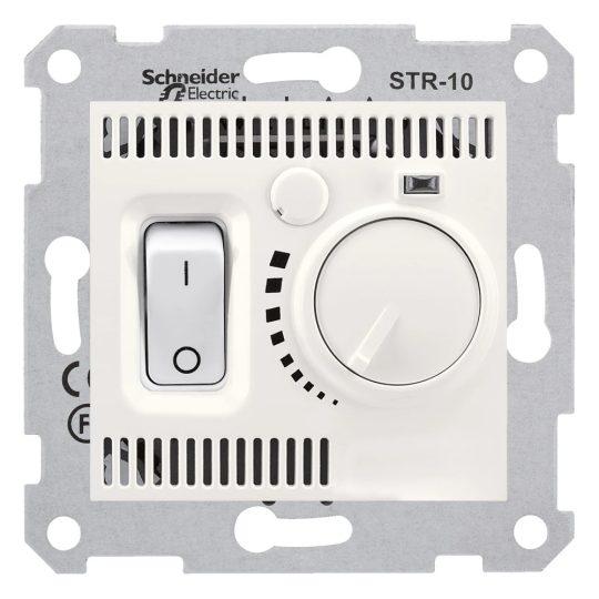 Schneider Electric Sedna SDN6000123 szobatermosztát, krém burkolattal. keret nélkül ( SDN6000123 ).