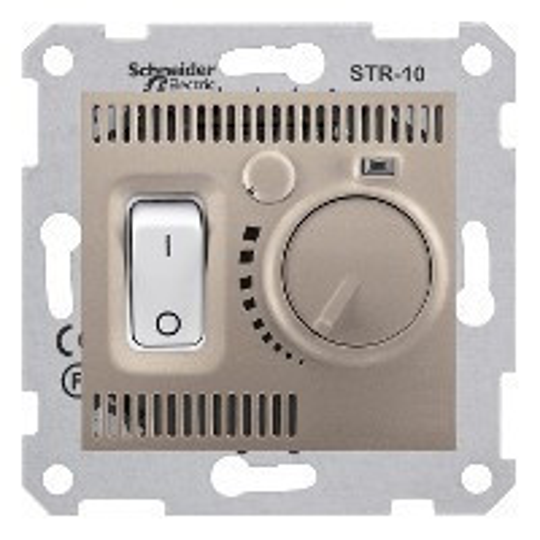 Schneider Electric Sedna SDN6000168 szobatermosztát, titánium burkolattal. keret nélkül ( SDN6000168 ).
