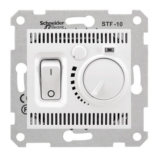 Schneider Electric Sedna SDN6000321 szobatermosztát padlófűtéshez, fehér burkolattal. keret nélkül ( SDN6000321 ).