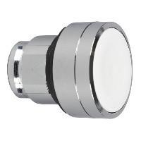 Schneider ZB4BA14 Harmony fém nyomógomb fej, Ø22, visszatérő, fehér, magasított