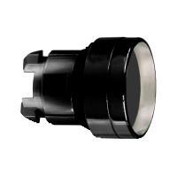 Schneider ZB4BA267 Harmony fém nyomógomb fej, Ø22, visszatérő, mélyítet, fekete, fekete perem
