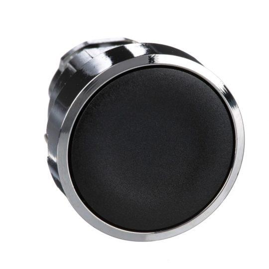 Schneider ZB4BA2TQ Harmony fém nyomógomb fej, Ø22, visszatérő, fekete 100 darabos csomagban