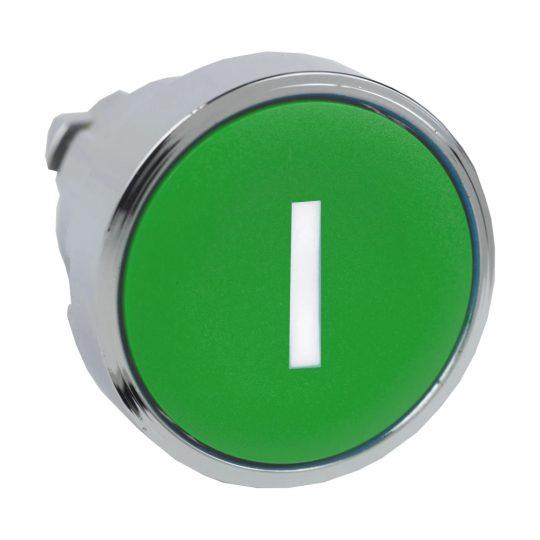 """Schneider ZB4BA331 Harmony fém nyomógomb fej, Ø22, visszatérő, zöld, """"I"""""""