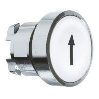 """Schneider ZB4BA334TQ Harmony fém nyomógomb fej, Ø22, visszatérő, fehér, """"fel nyíl"""" 100 darabos csomagban"""
