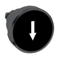 """Schneider ZB4BA3357 Harmony fém nyomógomb fej, Ø22, visszatérő, fekete, """"fel nyíl"""", fekete perem"""