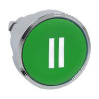 """Schneider ZB4BA336 Harmony fém nyomógomb fej, Ø22, visszatérő, zöld, """"II"""""""