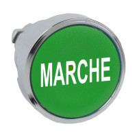 """Schneider ZB4BA342 Harmony fém nyomógomb fej, Ø22, visszatérő, zöld, """"MARCHE"""""""