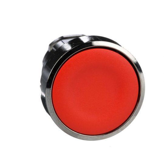 Schneider ZB4BA4 Harmony fém nyomógomb fej, Ø22, visszatérő, piros