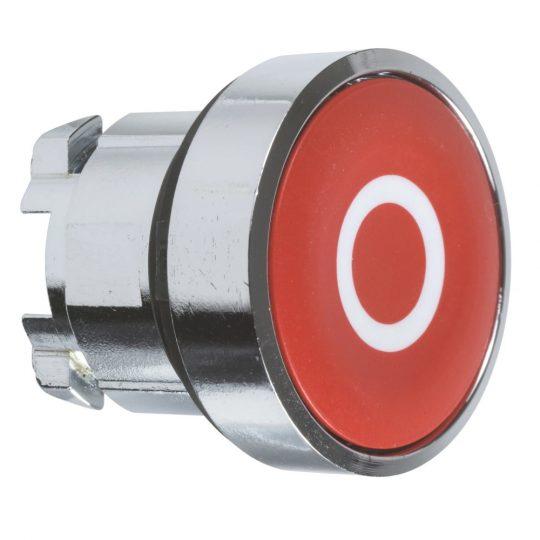 "Schneider ZB4BA432 Harmony fém nyomógomb fej, Ø22, visszatérő, piros, ""O"""