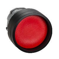 Schneider ZB4BA467 Harmony fém nyomógomb fej, Ø22, visszatérő, mélyítet, piros, fekete perem