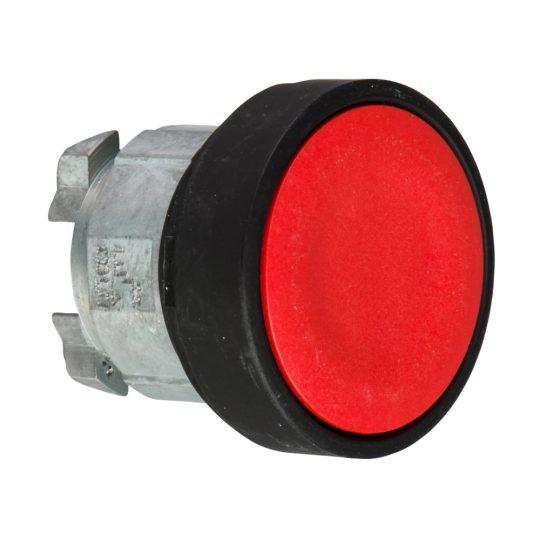 Schneider ZB4BA47 Harmony fém nyomógomb fej, Ø22, visszatérő, piros, fekete perem