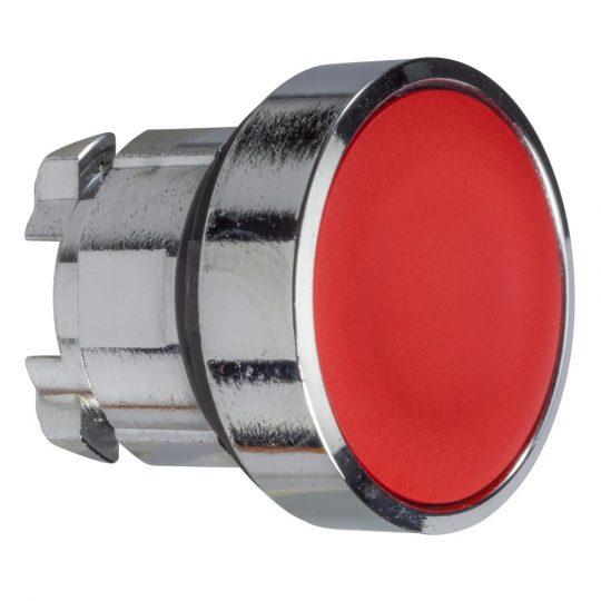 Schneider ZB4BA4TQ Harmony fém nyomógomb fej, Ø22, visszatérő, piros 100 darabos csomagban