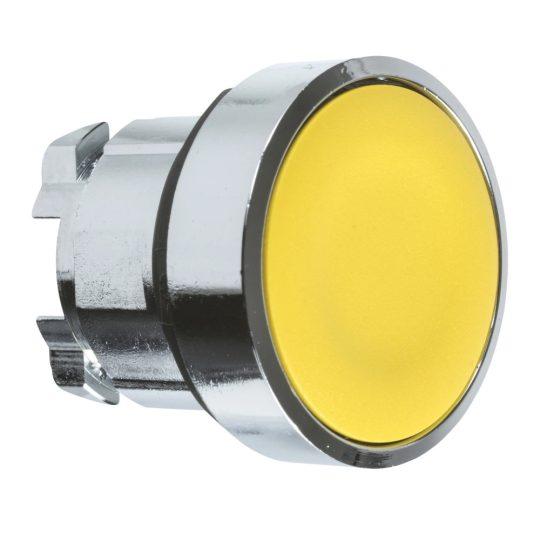 Schneider ZB4BA5 Harmony fém nyomógomb fej, Ø22, visszatérő, sárga