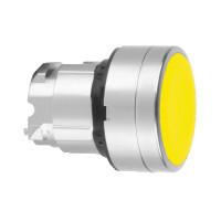 Schneider ZB4BA54 Harmony fém nyomógomb fej, Ø22, visszatérő, magasított, sárga