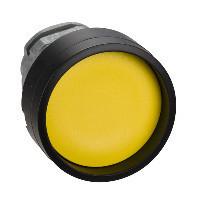 Schneider ZB4BA567 Harmony fém nyomógomb fej, Ø22, visszatérő, mélyítet, sárga, fekete perem