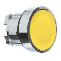 Schneider ZB4BA5TQ Harmony fém nyomógomb fej, Ø22, visszatérő, sárga 100 darabos csomagban