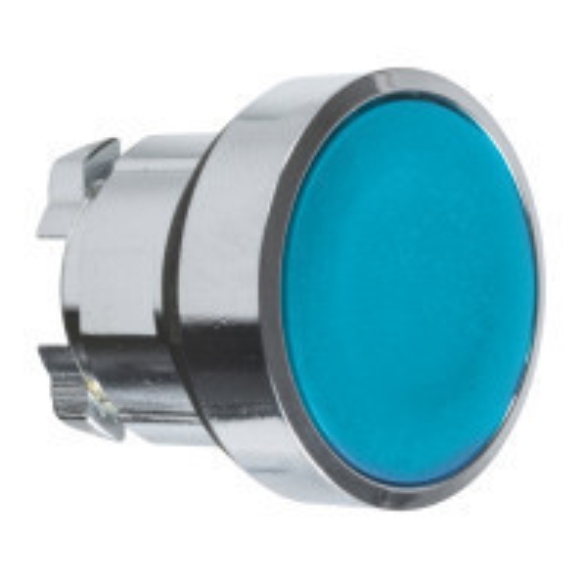 Schneider ZB4BA6 Harmony fém nyomógomb fej, Ø22, visszatérő, kék
