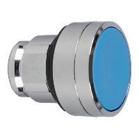 Schneider ZB4BA64 Harmony fém nyomógomb fej, Ø22, visszatérő, magasított, kék