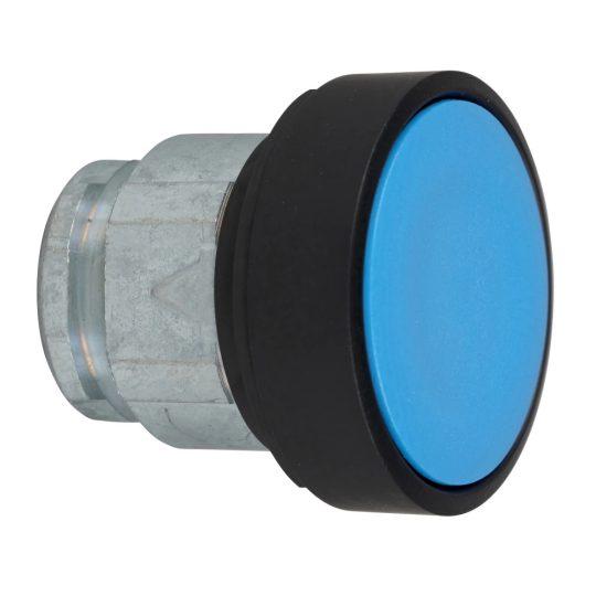 Schneider ZB4BA67 Harmony fém nyomógomb fej, Ø22, visszatérő, kék, fekete perem