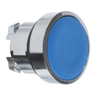 Schneider ZB4BA6TQ Harmony fém nyomógomb fej, Ø22, visszatérő, kék 100 darabos csomagban