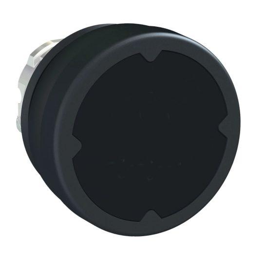 Schneider ZB4BC280 Harmony fém durva környezeti nyomógomb fej, Ø22, visszatérő, fekete