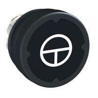 Schneider ZB4BC28022 Harmony fém durva környezeti nyomógomb fej, Ø22, visszatérő, fekete, szimbólummal