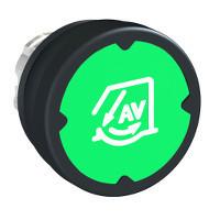 Schneider ZB4BC38002 Harmony fém durva környezeti nyomógomb fej, Ø22, visszatérő, zöld, szimbólummal