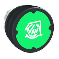 Schneider ZB4BC38003 Harmony fém durva környezeti nyomógomb fej, Ø22, visszatérő, zöld, szimbólummal