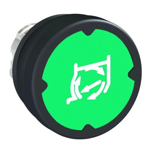 Schneider ZB4BC38011RA Harmony fém durva környezeti nyomógomb fej, Ø22, visszatérő, zöld, elforgatott szimbólummal